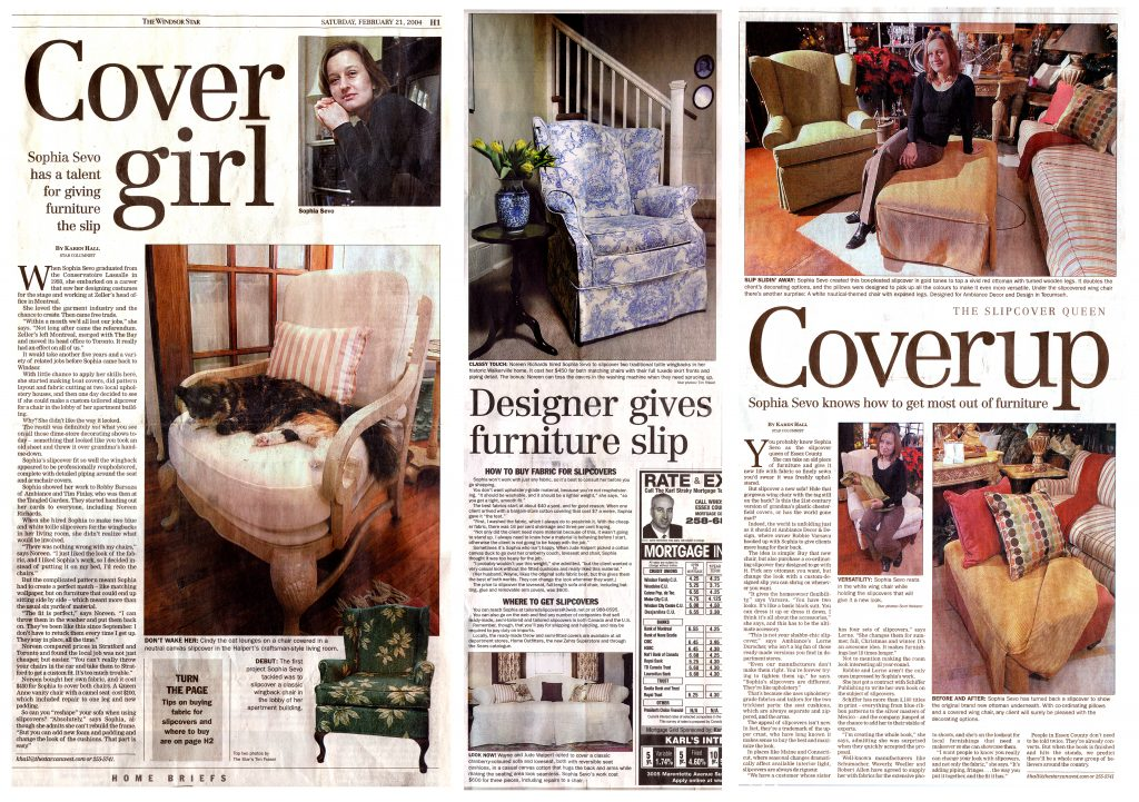 Windsor, Ontario's slipcover queen, sophia sevo.